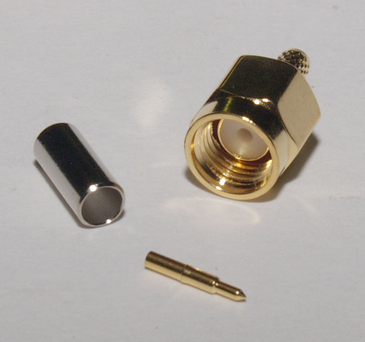 Connector (crimp type) - SMA male for RG-174 cable