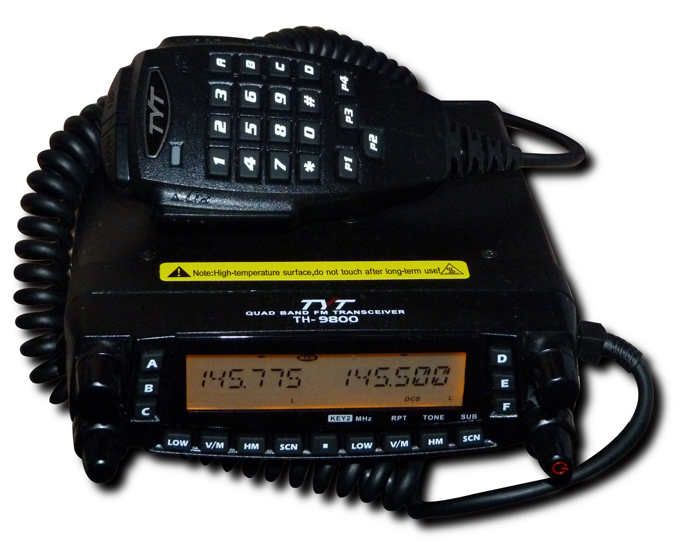"TYT TH-9800 ""PLUS"" Quad band 10m/4m/2m/70cm Mobile Transceiver"