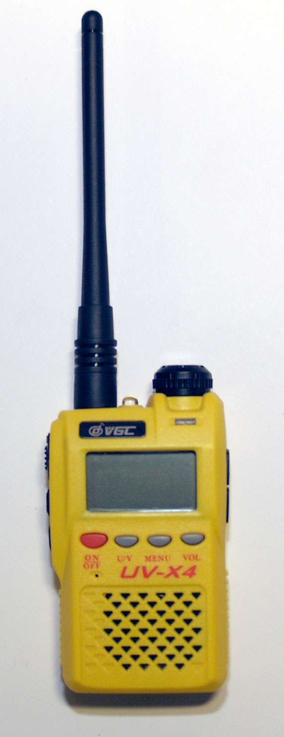 Vero Telecom UV-X4 2m/70cm dualband handheld transceiver with yellow housing