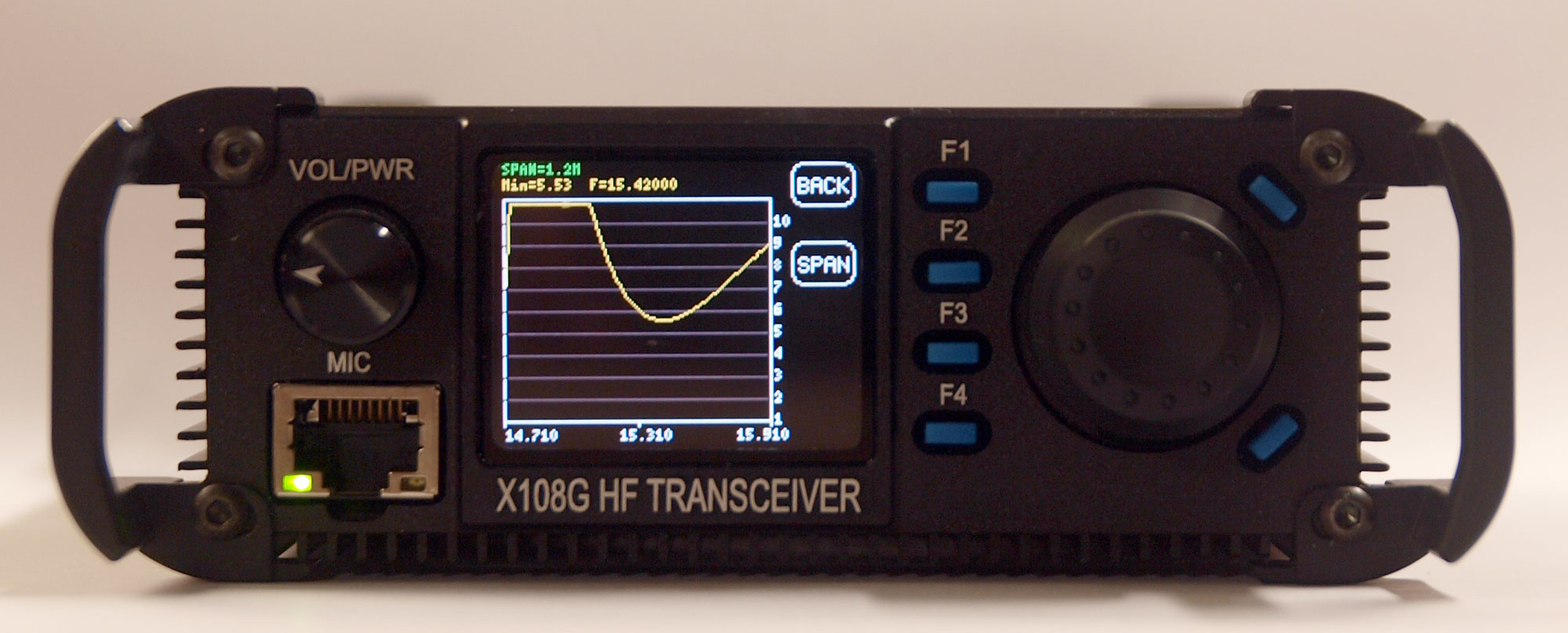 X108G 20 Watt HF Amateur Transceiver - Outdoor Version - 2017 Revision with SWR analyser